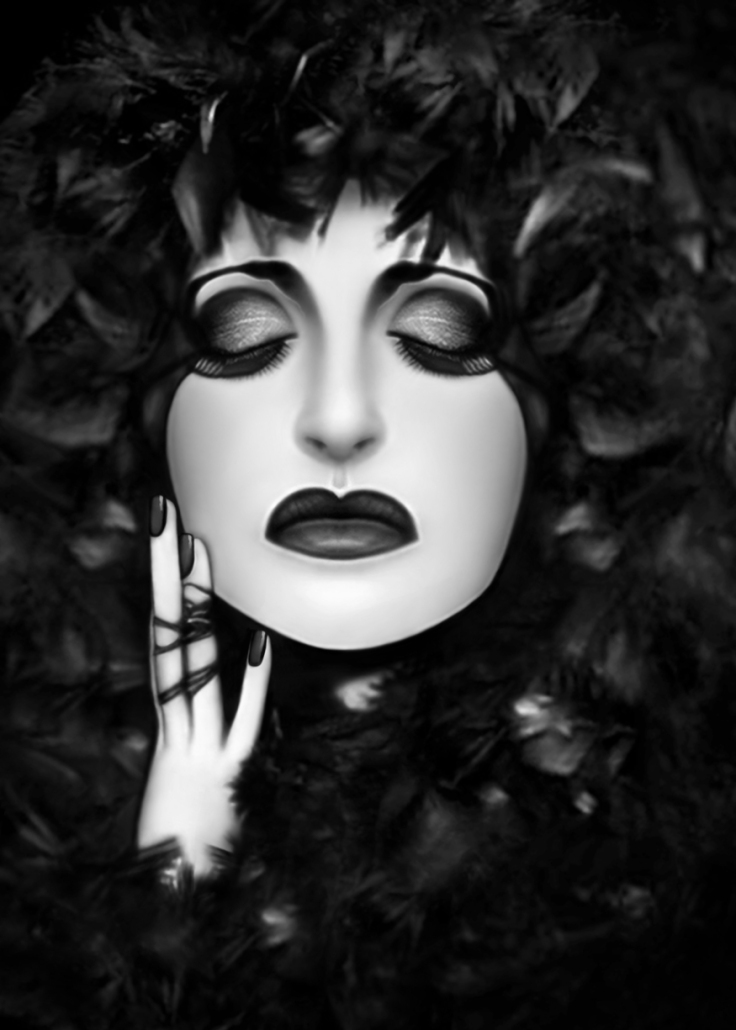 The Mourning - Self Portrait by Jaeda DeWalt